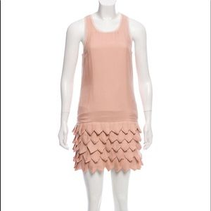 Alice + Olivia RosePink Sleeveless Silk Mini-Dress